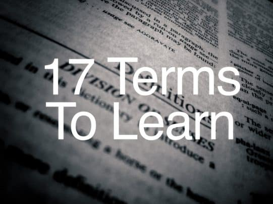 Terms To Learn